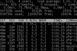 php-fpm 占用资源如何检查和php-fpm的解决