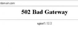 WordPress提示502 Bad Gateway错误的解决方法