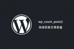 WordPress 使用 wp_count_posts() 函数快速获取文章数量-wp教程
